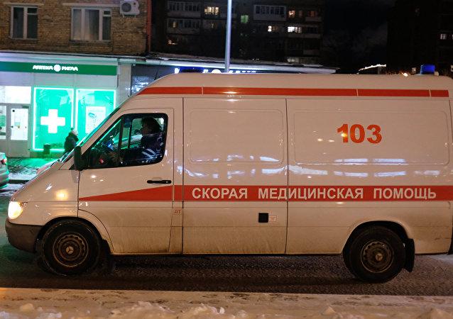 Una ambulancia rusa (imagen referencial)