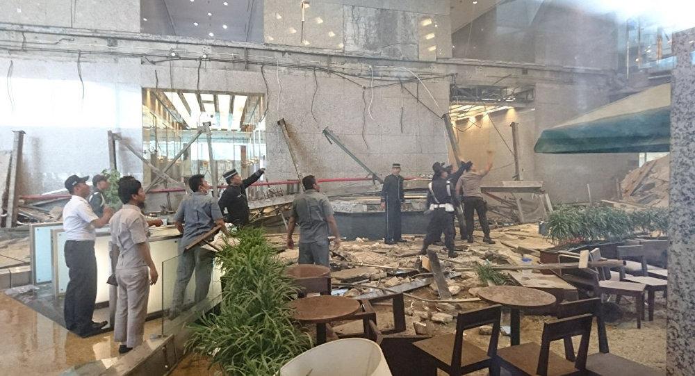 Decenas de heridos al hundirse el techo de la Bolsa de Yakarta