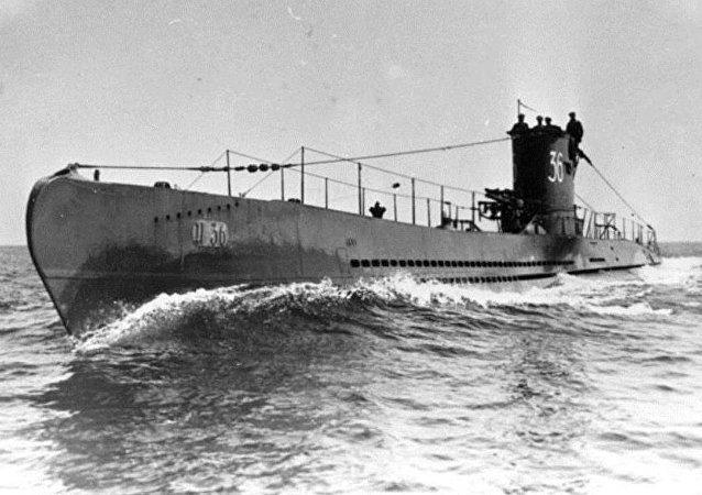 Submarino U-36, de clase VIIA, similar al U-1206 (archivo)