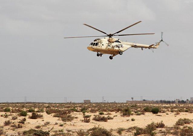 Un helicóptero MI17 (imagen referencial)