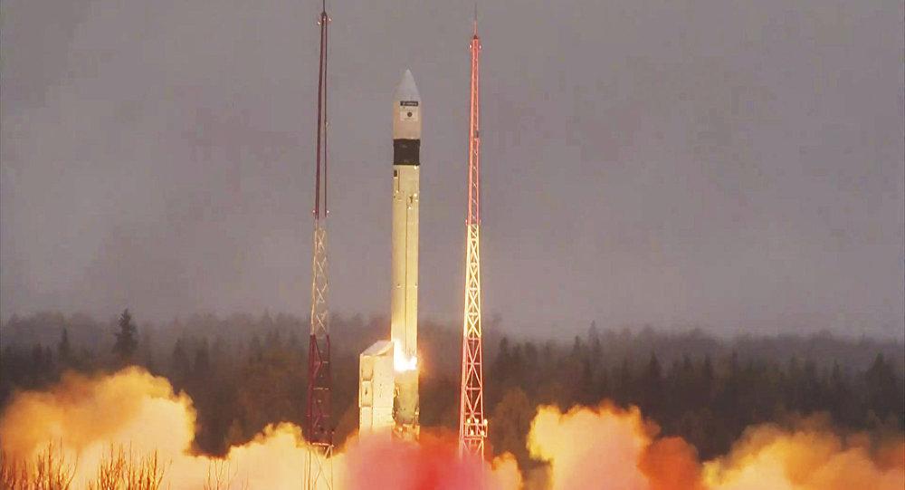 Lanzamiento de un satélite europeo Sentinel (archivo)