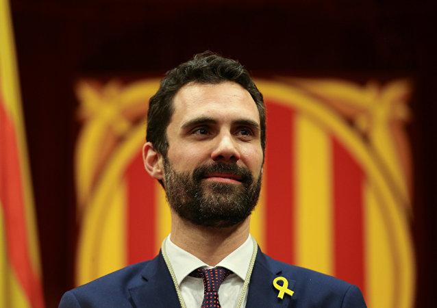 Roger Torrent, presidente del Parlamento de Cataluña