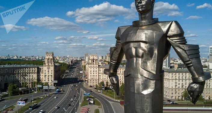 Un monumento al primer hombre que voló al espacio, Yuri Gagarin (imagen referencial)