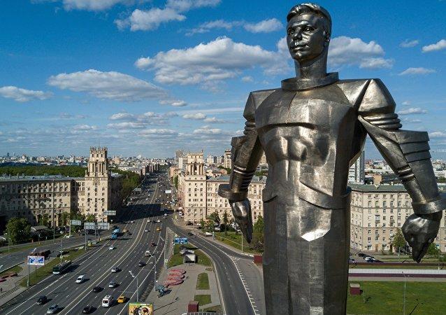 Un monumento al primer hombre que voló al espacio, Yuri Gagarin
