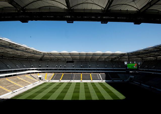 El estadio de fútbol Rostov Arena, en construcción en Rostov del Don