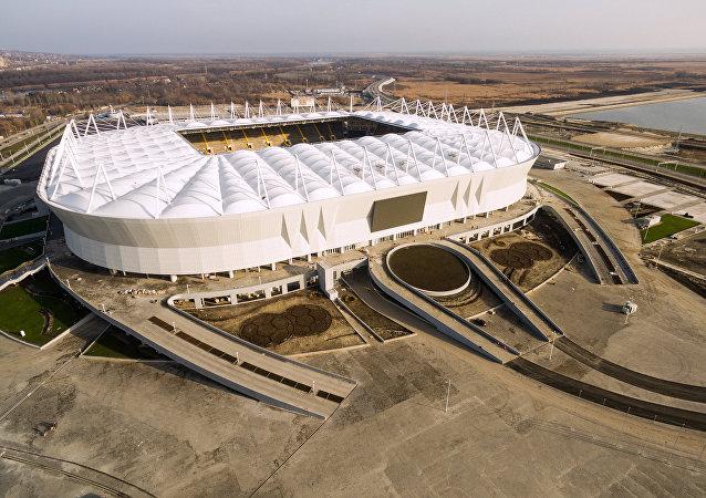 La consrtucción del estadio Rostov Arena