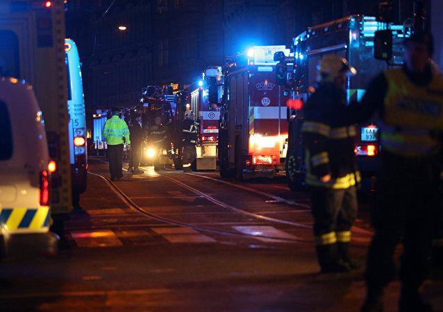 Incendio en Praga