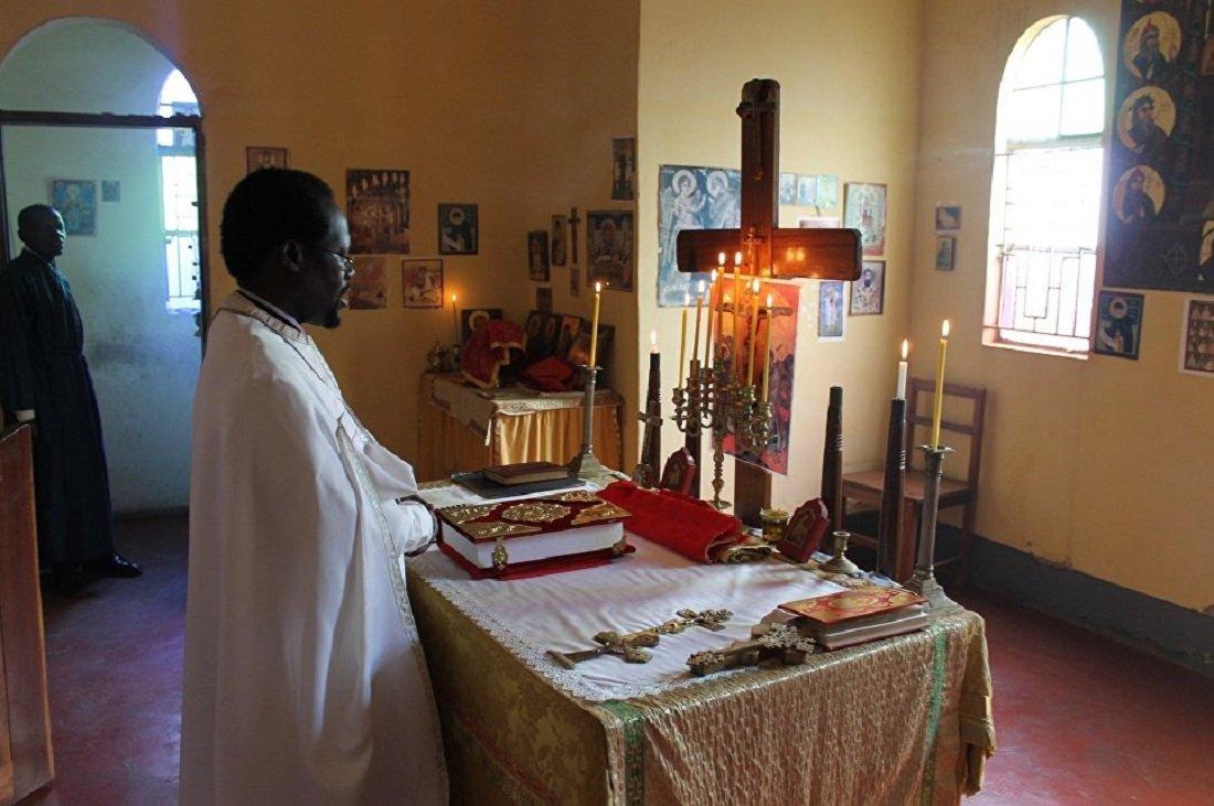 Una iglesia de los staroveri en Uganda