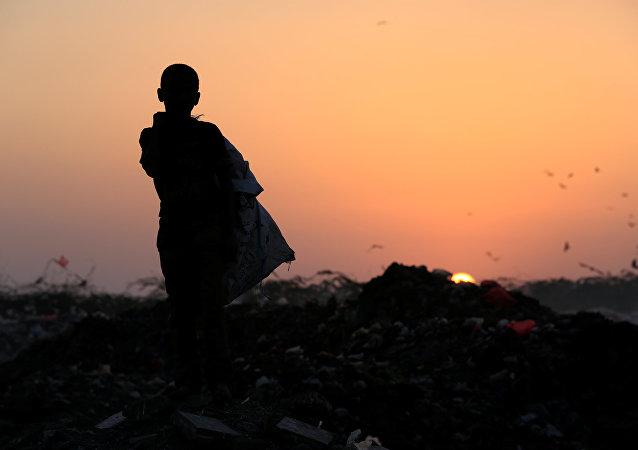 Un niño yemení