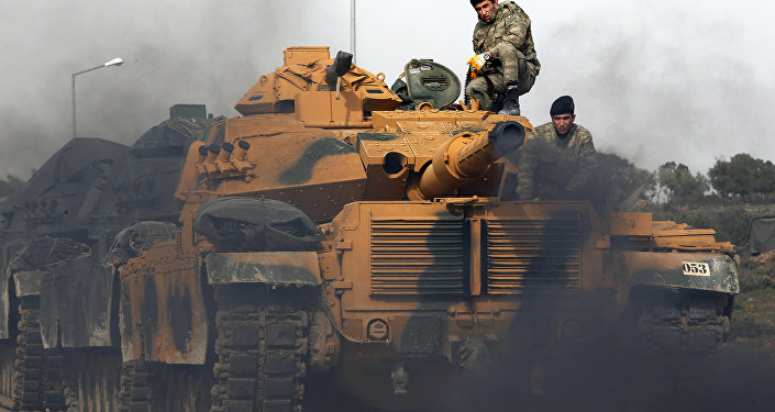 Tanques turcos en la frontera con Siria (Archivo)