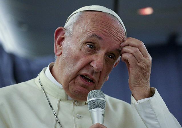 El papa Francisco durante su visita a Perú (archivo)