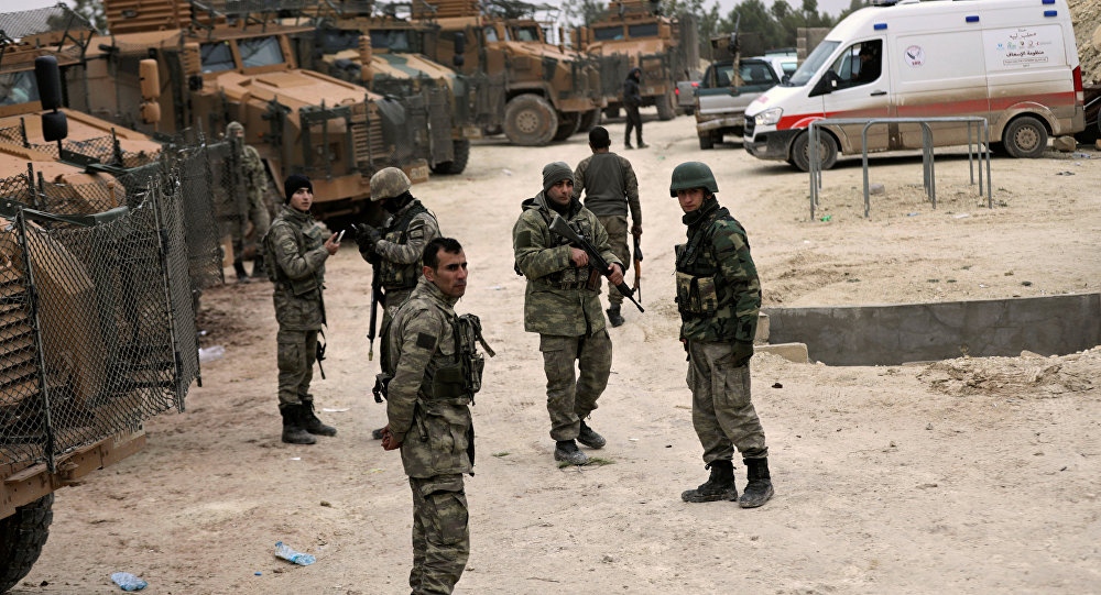 Militares turcos cerca de Afrín, Siria
