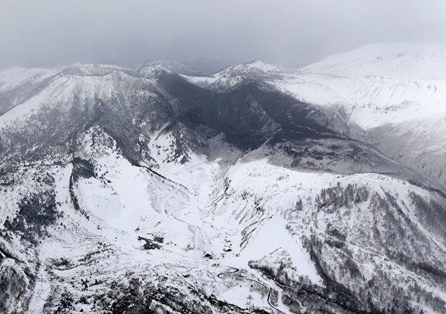El volcán Kusatsu-Shirane en Japón
