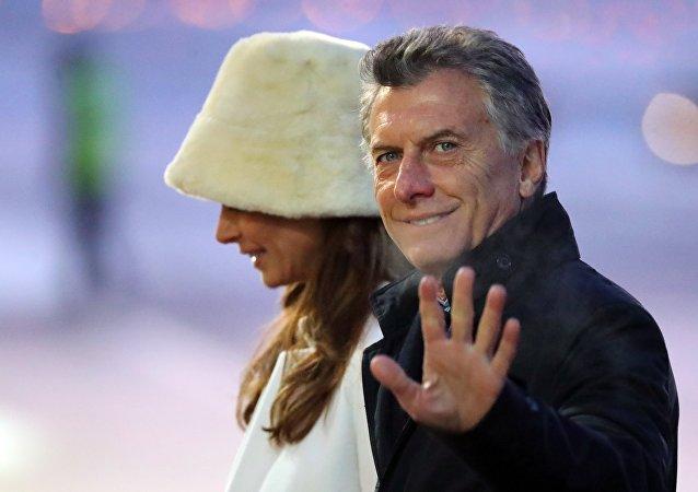 Mauricio Macri, presidente de Argentina, llega a Rusia junto a su esposa Juliana Awada