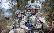 Militares británicos, foto de archivo