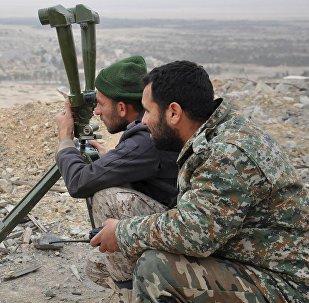 Los militares sirios en Palmira (Archivo)