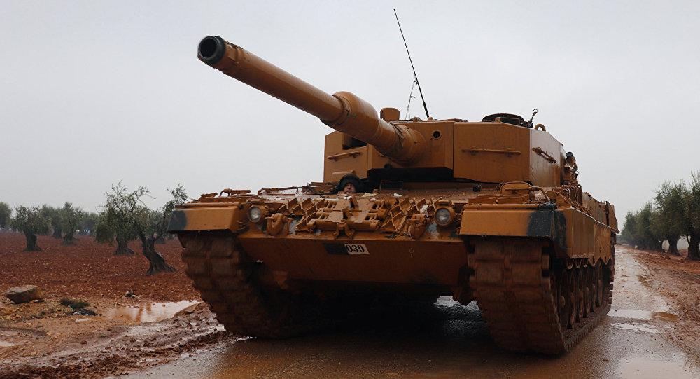 Tanque turco cerca de Afrín, Siria