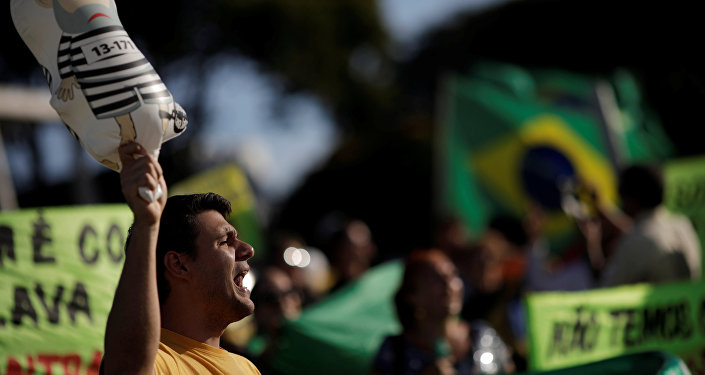 Protestas contra el expresidente brasileño Luiz Inácio Lula da Silva