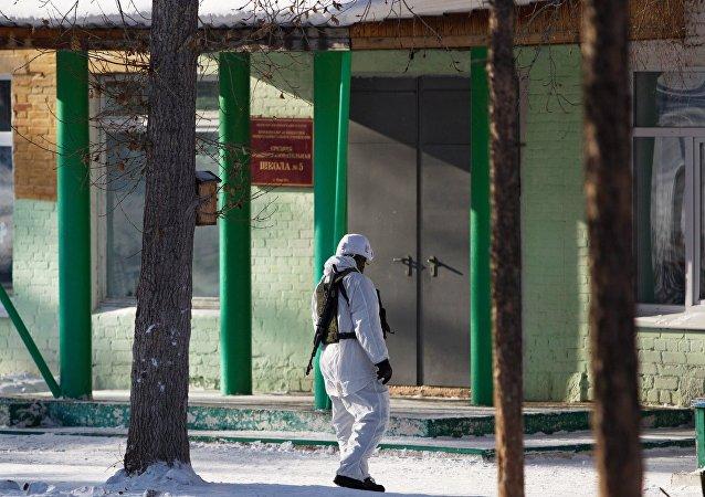 Escuela en Ulán-Udé, Rusia, dónde se produjo el ataque