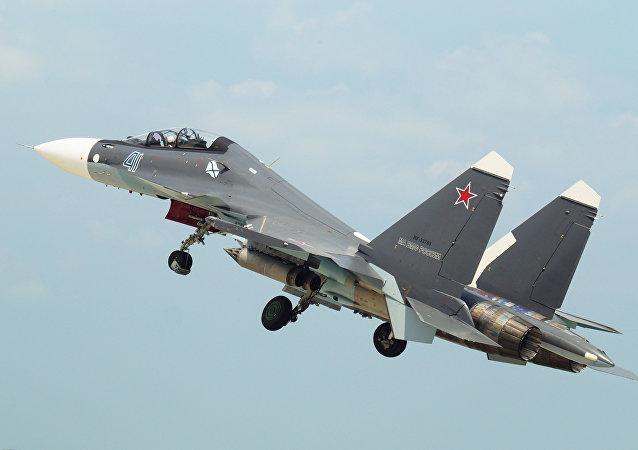 Un Su-30SM de la Flota del Mar Negro