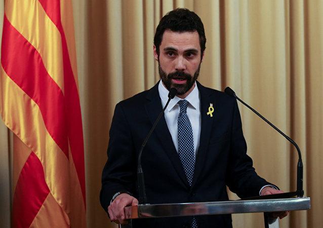 Roger Torrent, nuevo presidente del Parlamento de Cataluña