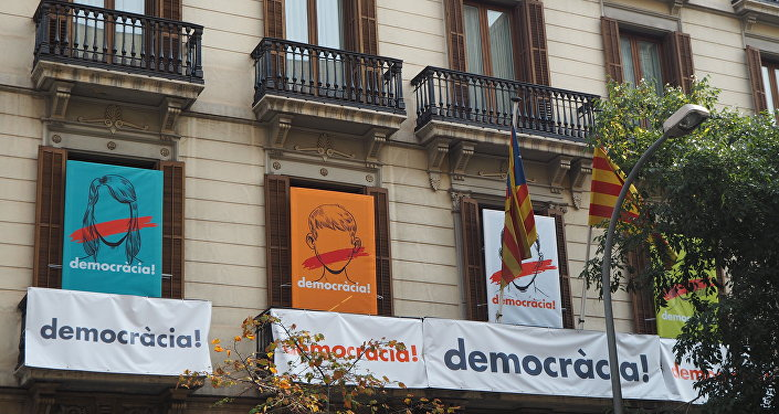 Oficina de Òmnium Cultural en Barcelona