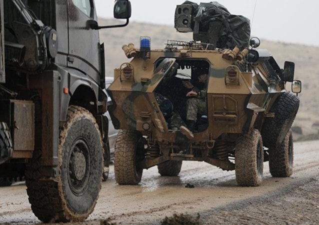Fuerzas turcas cerca de Afrín, Siria