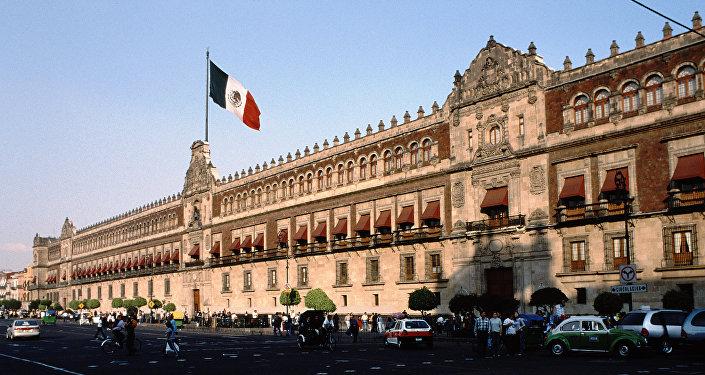 El Palacio Nacional de México, sede del Poder Ejecutivo Federal en Ciudad de México