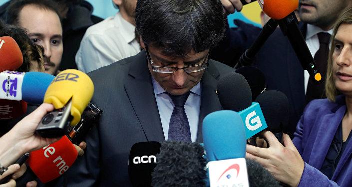 Carles Puigdemont, el expresidente de Cataluña