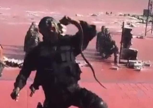 Mientras tanto, en Indonesia… militares decapitan serpientes venenosas a mordiscos