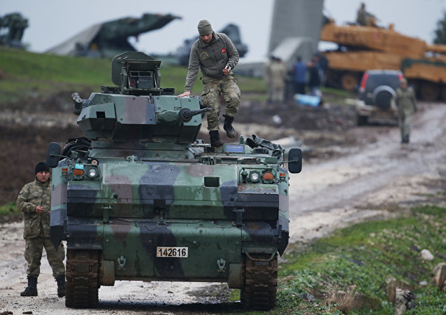 Ejército turco en la frontera con Siria (archivo)