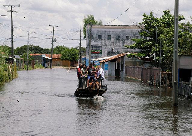 La inundaciones en Paraguay