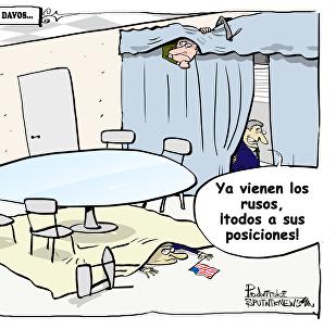Cómo los estadounidenses 'juegan al escondite' con los rusos en Davos