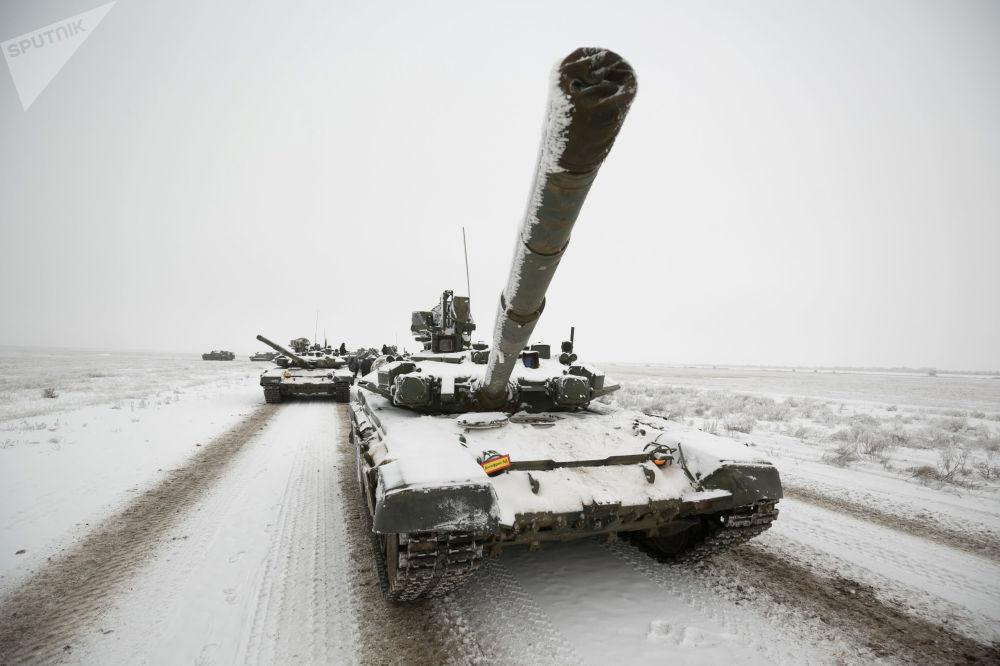 Los preparativos para el desfile del 75 aniversario de la Batalla de Stalingrado