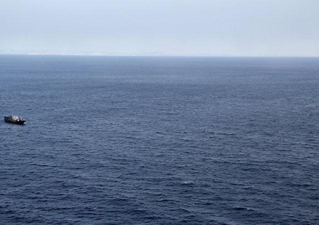 La búsqueda de un barco en el mar de Japón (imagen referencial)