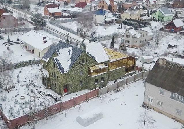 Una casa a lo 'Resident Evil' en Bielorrusia