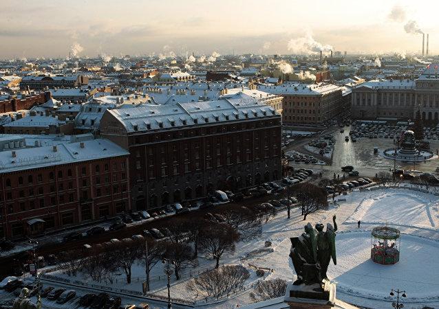 Vista a la ciudad de San Petersburgo