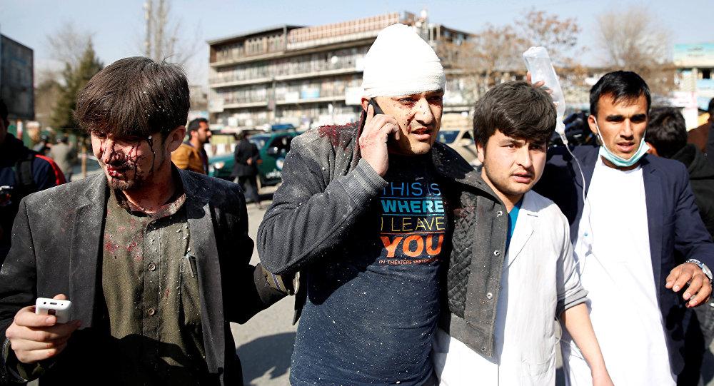 Lugar de explosión en Kabul