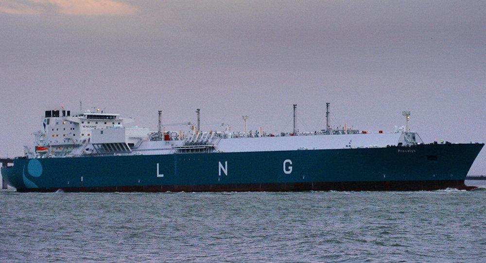 El buque cisterna de gas natural licuado Provalys de Francia (archivo)
