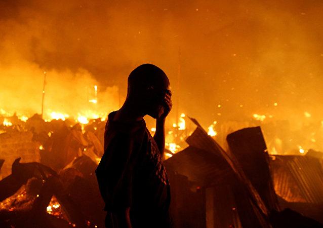 Un incendio deja sin hogar a 6.000 en un suburbio de Nairobi
