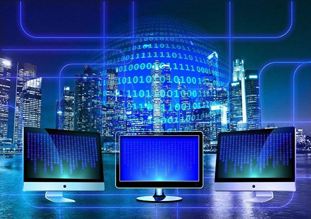 Una red de computadoras (imagen referencial)