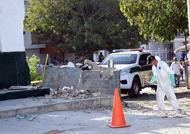 Lugar del atentado en Barranquilla