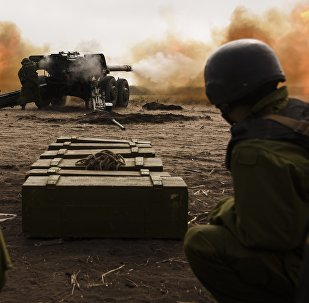 Ejército de Ucrania durante los ejercicios militares