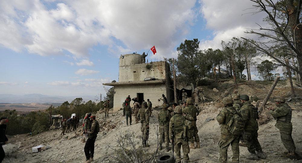 Tropas turcas en Afrín