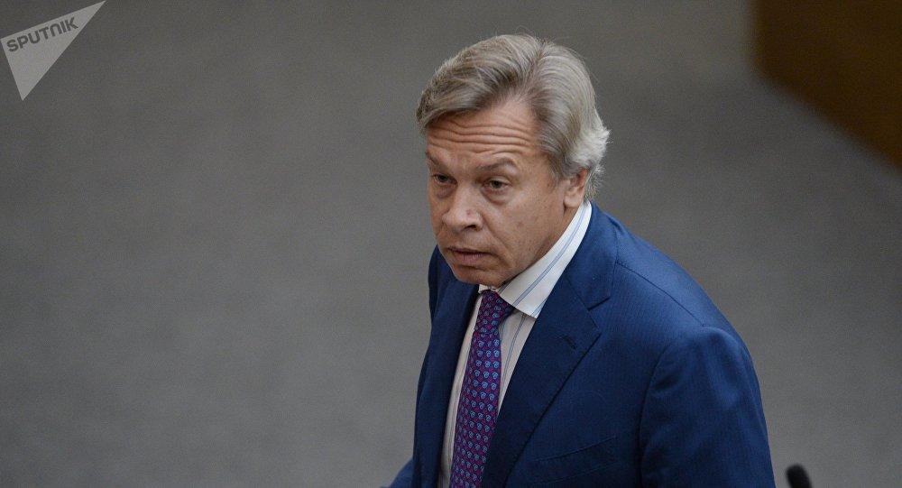 Alexéi Pushkov, jefe del comité para asuntos internacionales de la Duma de Estado
