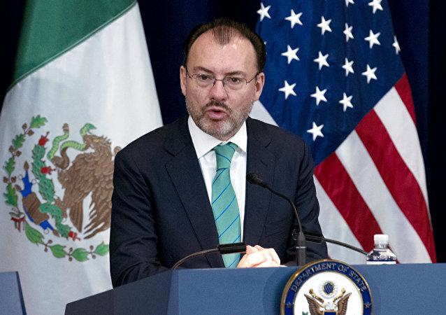 Luis Videgaray, el canciller mexicano (imagen referencial)