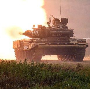 Un tanque ruso T-90