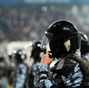 Policía en el campo de fútbol (archivo)