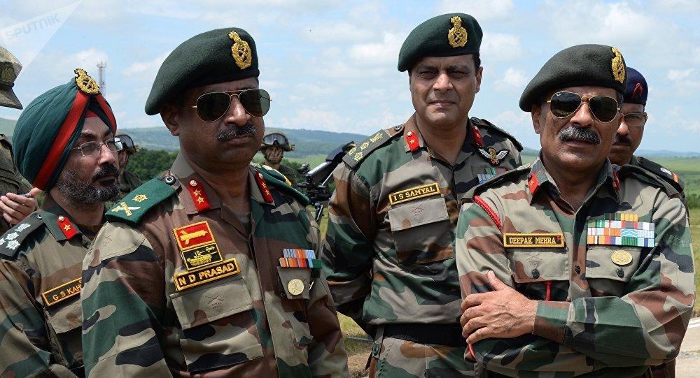 Militares indios durante su visita a Rusia (archivo)