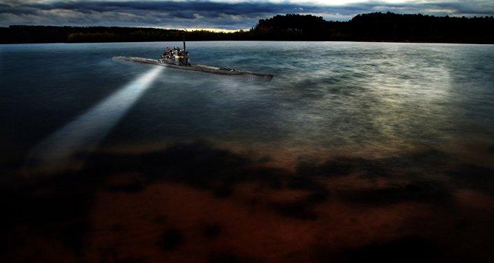 Un submarino, imagen referencial